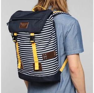 Burton Blue Striped Buckle Backpack